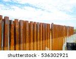 sheet pile wall for steel... | Shutterstock . vector #536302921