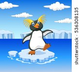 happy cartoon penguin... | Shutterstock .eps vector #536308135