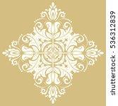 elegant square ornament in the... | Shutterstock . vector #536312839