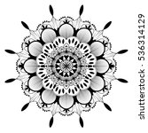 mandala black and white... | Shutterstock .eps vector #536314129