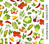 farm fresh vegetables seamless... | Shutterstock .eps vector #536315299