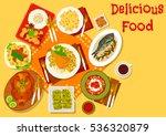 world cuisine popular dishes... | Shutterstock .eps vector #536320879