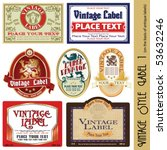 vintage style label (on the basis of antique labels)