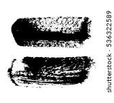 black ink brush strokes ... | Shutterstock . vector #536322589