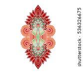 vector ornamental lotus flower  ... | Shutterstock .eps vector #536326675