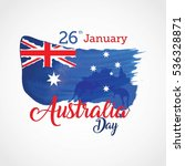 happy australia day vector... | Shutterstock .eps vector #536328871