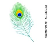 peacock feather. vector.... | Shutterstock .eps vector #53633233