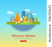 welcome to thailand  tourism... | Shutterstock .eps vector #536334631