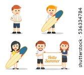 beach people set illustration... | Shutterstock .eps vector #536334784