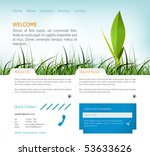 web page layout | Shutterstock .eps vector #53633626