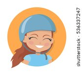 girl with long brown hair.... | Shutterstock .eps vector #536337247