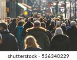 crowd of people walking on a... | Shutterstock . vector #536340229