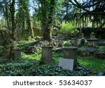 Old Graveyard At A Sunny Day