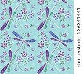 indonesia batik motif vector | Shutterstock .eps vector #536341441