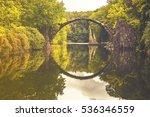 rakotz bridge in kromlau | Shutterstock . vector #536346559