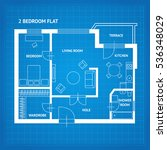apartment floor plan blueprint...
