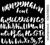 hand drawn font made by dry...   Shutterstock .eps vector #536358031