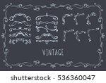 set of vector hand drawn...   Shutterstock .eps vector #536360047