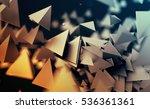 abstract 3d rendering of... | Shutterstock . vector #536361361