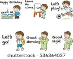 boys life set | Shutterstock .eps vector #536364037