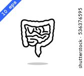 intestines icon flat. | Shutterstock .eps vector #536376595