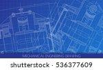 mechanical engineering drawing. ... | Shutterstock .eps vector #536377609