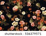 Seamless floral pattern with flowers.