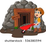 cartoon mine entrance with gold ... | Shutterstock . vector #536380594