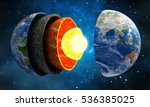 3d illustration showing layers... | Shutterstock . vector #536385025