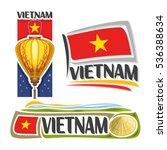 vector logo vietnam  3 isolated ... | Shutterstock .eps vector #536388634