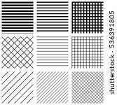 set of seamless geometric... | Shutterstock .eps vector #536391805