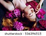 beauty portrait. beautiful... | Shutterstock . vector #536396515