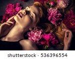 beauty portrait. beautiful...   Shutterstock . vector #536396554