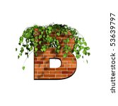 3d Letter With Brick Texture   B