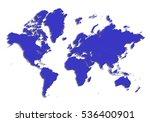 map map of world on white... | Shutterstock . vector #536400901