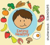 eating healthy for kids... | Shutterstock .eps vector #536405695