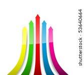 colored arrows. vector...   Shutterstock .eps vector #53640664