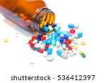 pills spilling out of pill... | Shutterstock . vector #536412397
