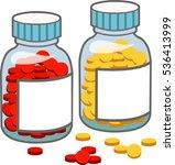 medicine bottle of medicine