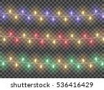 garlands  festive decorations.... | Shutterstock .eps vector #536416429