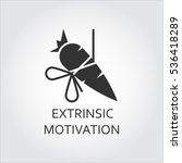 extrinsic motivation  bait ... | Shutterstock .eps vector #536418289