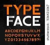 decorative alphabet typeface.... | Shutterstock .eps vector #536421067