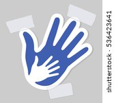 caring hand applique with a... | Shutterstock . vector #536423641