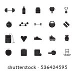vector icon set of fitness... | Shutterstock .eps vector #536424595