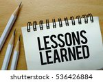 lessons learned text written on ... | Shutterstock . vector #536426884