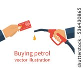 buying petrol  concept. payment ...