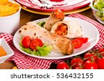 Tortilla Wraps With Chicken An...