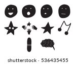 vector icon set for human... | Shutterstock .eps vector #536435455