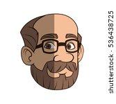 isolated man cartoon design | Shutterstock .eps vector #536438725