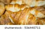 many crossiant together in a ... | Shutterstock . vector #536440711